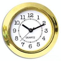 mini relojes de inserción al por mayor-37mm Barato y Oro Calidad Ni Reloj Oro Plástico Ajustar Reloj Insertar Números Arbic Mini Insertar Reloj