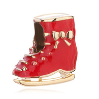 Wholesale skating charm resale online - Fashion women jewelry European style kids skating shoe shoes metal spacer bead lucky charms fits Pandora charm bracelet
