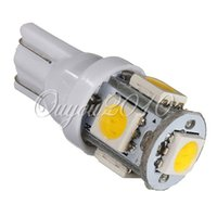 Wholesale Light Led Plate Price - Best Price 10pcs lot Warm White 3000K T10 W5W 5 SMD 5050 LED Car Auto License Plate Wedge Side Lights Lamp Bulb 12V Yellow