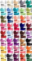 Wholesale Cheap Georgette Shawls - Mxed Pashmina Cashmere Solid Shawl Wrap Women's Girls Ladies Scarf Soft Fringes Solid Color Scarf Sexy Fashion Cheap Multicolor Punk Scarf