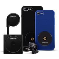 kfz-ladegerät großhandel-Neue Wireless Charger Set 2 in 1 iPhone Ladefall und Magnetische Auto Air Vent Halter Halterung für iPhone 6 6S 7 8 Mit Kleinkasten
