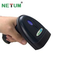 Al por mayor-NT-1698LY Wireless Bluetooth Barcode Scanner Laser portátil 1D Bar Code Reader para Android y ios iphone NETUM