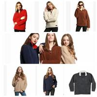 Wholesale 18 Month Girl Sweater - Women Sherpa Pullover Fleece Hooded Casual Sherpa Fleece Sweater Tops Outwear winter Jumper 8 color LJJK829