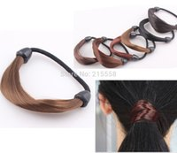 Wholesale Korean Ponytail Style - New Korean Style Wig Rope Hair Band Accessories Elastic Hair Bands Braid hairpiece Ponytail Holder Hairband JJAL H169