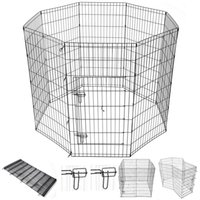 "Wholesale Metal Wire Fencing - 48"" Dog Playpen Metal Wire Crate Pet Puppy Fence Exercise Cage"