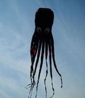 Wholesale Power Fonts - 3D 26ft 8m Black 1 Line Stunt Parafoil Octopus POWER Sport Kite outdoor toy free