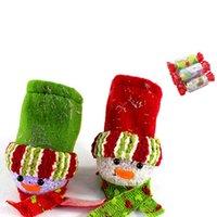 pendelleuchte baum großhandel-Beleuchtung Schneemann Candy Bag 7 Farben Glänzende Weihnachtsbaum Dekoration Bowknot Hängenden Anhänger