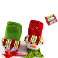 brilho do saco venda por atacado-Iluminação Snowman Candy Bag 7 Cores Brilhando Árvore de Natal Decoração Bowknot Pendurado Pingente
