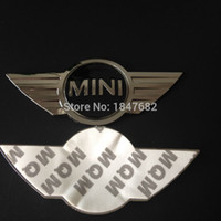 Wholesale 3m Metal Sticker For Cars - High quality 3D metal Mini cooper sticker For MINI car front badge Logo with 3M sticker for car badges emblem decoration
