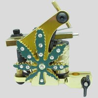 Wholesale 2PCS Diamond Golden Crystal Tattoo Machine Random Style Color
