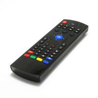 ingrosso mx3 mouse d'aria-X8 2.4Ghz Wireless Keyboard MX3 modalità di apprendimento 3D IR Fly Air mouse di controllo remoto per il mini PC Android Smart TV Box