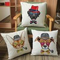 Wholesale Throw Pillow Sale Free Shipping - Wholesale-Free Shipping Linen Throw Pillow Cases Animal Series Terraria Fashion Cushion Pillow Cover Factory Direct Sale Price