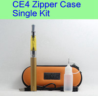 Single case free electronic - 15 CE4 eGo Starter Kit Electronic Cigarette Zipper Case Single Kit E Cigarette mah mah mah DHL