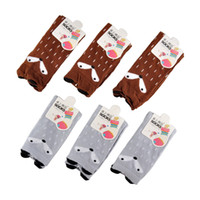 Wholesale Cartoon Animal Socks Toddlers - Cartoon Cute Children Print Animal Cotton Baby Kids Socks Knee High Long Fox Socks For Toddler Girl Totoro Socks Winter leg warmers