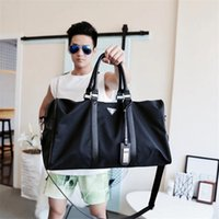 Wholesale Cotton Barrel Bag - new fashion women man handbags travel luggage bags outdoor sports bags for man large capacity women handbag