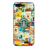 Wholesale Iphone 4s Pictures - Wholesale Starbucks Coffee Logo Picture Design Hard Plastic Mobile Protective Phone Case Cover For iPhone 4 4S 5 5S 5C 6
