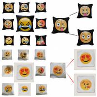 Wholesale Face Pillows - Emoji Sequins Pillow Case Poop Pillowcase Double Colors Faces Expression Mermaid Pillow Covers Home Sofa Car Decor Cushion Gift 40*40cm SF42