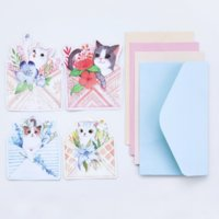 Wholesale Cute Stationery Envelopes - Wholesale- 4 Pcs New Cute cat Writing paper envelopes letterhead office stationery writing paper stationery kawaii birthday envelopes gift