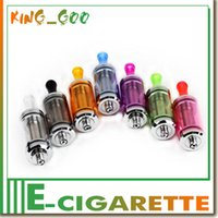 Wholesale Dct Crystal Atomizer - 6ML DCT Crystal Dual Coil Tank DCT Cartomizer Clearomizer colorful Atomizer for eGo evod battery Electronic Cigarette
