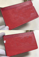 Wholesale Mini Mens Wallets - Double sided with letter Luxury Paris Card Holder For Mens Women Card Holders X Red Wallet 17ss 45 Genuine Leather Yoga Bags