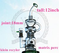 "Wholesale Arms Selling - Corona Glass Bong Hot Sell 12"" Bongs Triple Perc shower Klein recycler pink tall bong Hitman Arm Tree Mini Purple Oil Rig Dab Color Bongs"