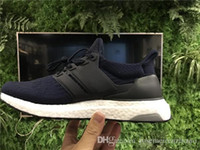 Wholesale Hot Pink Boots For Sale - Ultra Boost 3.0 Deep Blue BA8843 Running Shoes For Men Women,Hot Sale 350 V2 Boost Black White Zebra Basf Boosts mens womens Sneakers