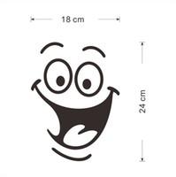 ingrosso grandi bagni-grande bocca sorriso viso adesivi toilette decorazioni murali fai da te vinile casa decalcomanie mual art poster impermeabili