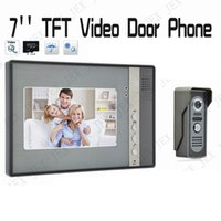 Wholesale Outdoor Intercom Camera - Home Security System 7 inch TFT Color Touch Key Video Intercom Doorbell Door Phone