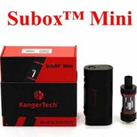 Wholesale E Cigs Starter Kits - Kanger Subox Mini Starter Kit 50W Clone OCC RBA Coil Subtank Mini KBOX Variable Wattage Box Mods E cigs kangertech vaporizer vape instock