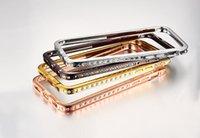 capa protetora iphone6 venda por atacado-Novo escudo do telefone móvel de metal phone case protetor casos de telefone strass para iphone6 / 6s frete grátis