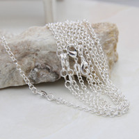 Wholesale Silver Plated Necklace Links Rope Snake Chains With Lobster Clasp Fit For DIY Jewelry Necklaces Inch SH19