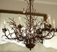 Wholesale Quality Led Lights Sale - High Quality LED Chandelier Crystals Iron Pendant Lights Modern 110V 220V rectangle chandeliers Wood Ceiling Lights Fit sale E14