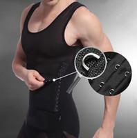 bauchgürtel für männer großhandel-Taillen-Trainings-Korsetts für Männer-Gurt-Gurt verringern den Bauch-Fehlschlag-Körper-Former-Cincher-männlichen Abdomen, der Abnutzungs-Kompressions-Unterwäsche abnimmt