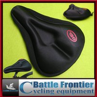 Wholesale Gel Seats For Bicycles - 2015 Brand New Saddle Cover Cycle Gel Silicon Seat Cushion Cycling Thick 3D Mat Pad in Bicycle for Road Mountain Bike Equipments Black