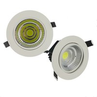 Wholesale Super Bright Led Spotlights - Energy Saving Dimmable 5w 10w 20w LED Recessed Ceiling LED Bulb Super Bright Spotlight Fiture COB LED Downlight Flood Lighting Lamp