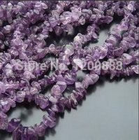 Großhandels-Amethyst Chip Beads Deep Purple Stein Chips 5-10mm 33 Inch Strand 4B051