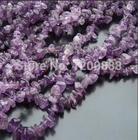 Wholesale-Amethyst Chip Beads Deep Purple Steinschlag 5-10mm 33 Inch Strand 4B051