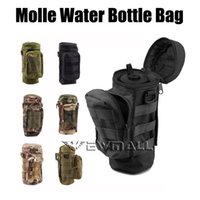 Wholesale Running Hydration Bottle - Militray Tactical Molle Zipper Water Bottle Hydration Pouch Bag Carrier for Hiking