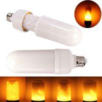 lâmpadas led chama venda por atacado-2017 novo LED Efeito de Luz de Fogo Chama Simulado Natureza Lâmpadas de Milho E27 lâmpada LED, luz de Natal