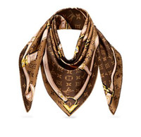 Wholesale polar brown - Women STAMP SCARF WORLD TOUR SHAWL CONFIDENTIAL SQUARE Women Silks Scarves wool shawls pashmina 140x140cm