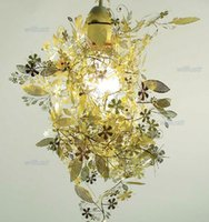 Wholesale Chrome Kitchen Pendant Light - Modern design Artecnica Garland Light TORD BOONTJE Garland Chandelier DIY Light Black gold chrome pendant lamp