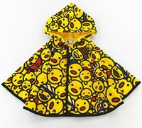 Wholesale Good Quality Kids Hoodie - Children clothes kids longs sleeve cloak kids duck pattern children cartoon hoodies sweatshirts good quality 5P l free shipping
