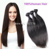 Wholesale Cheap Hair Weave Free Shipping - New arrival 50g aaaaa unprocessed malaysian nature hair cheap straight hair weave bundles 8pcs lot Free shipping