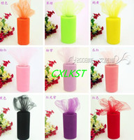 "Wholesale Tutu Table Centerpieces - Tulle 6"" x 25 yds ( 6""x 75 ft ) Spool Roll Gift Bow Wedding Decoration tutu Good Quality"