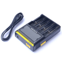 Wholesale Electronic Cigarettes Digital - Original Nitecore D4 Digital Charger LCD Display Electronic Cigarettes Charger for 18650 18350 18500 14500 Li-on Battery
