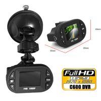 Wholesale Hd Vehicle Dvr Camera - Newest Mini Size HD 1920*1080P 12 IR LED Car Vehicle CAM Video Dash Camera C600 Recorder Russian Car DVR