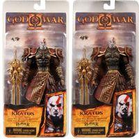 "Wholesale Kratos Golden Fleece - 7.5"" NECA God of War Kratos in Golden Fleece Armor with Medusa Head PVC Action Figure Collection Model Toy Free Shipping"