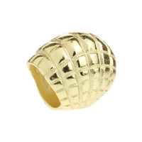 Wholesale Gold Seashell Charms - Beads Hunter Jewelry Authentic 925 Sterling Silver Gold Plated Seashell Charm fashion big hole bead For 3mm European Bracelet snake chain
