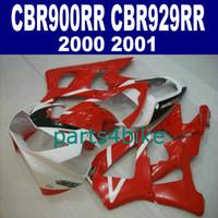honda cbr 929 carenados rojo al por mayor-Carenados del precio más bajo para HONDA CBR929RR kit de carenado CBR 929 2000 2001 rojo negro blanco bodykits CBR 900 RR 00 01 CBR900RR HB82