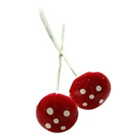 Wholesale Garden Stakes Decor Wholesalers - Mini Red Foam Mushroom Micro Landscape Bonsai Garden decoration Accessory Decor Stakes DIY Craft Free Shipping